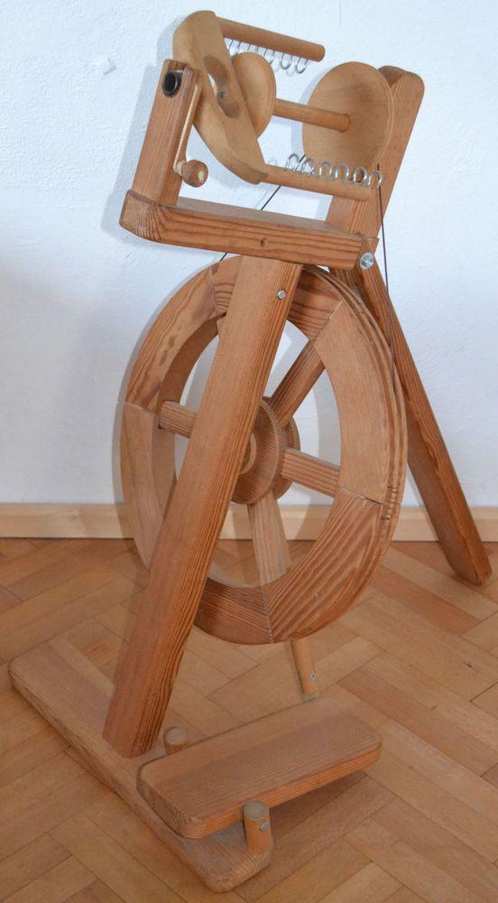 Spinnrad von Lukow in Maitenbeth, kugelgelagert, Massivholz, modern, klappbar in Antiquitäten & Kunst, Alte Berufe, Spinner | eBay