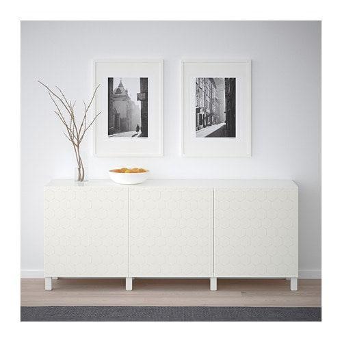 Besta Aufbewahrung Mit Turen Lappviken Weiss Ikea Deutschland In 2020 Living Room Diy Furniture Living Room Designs