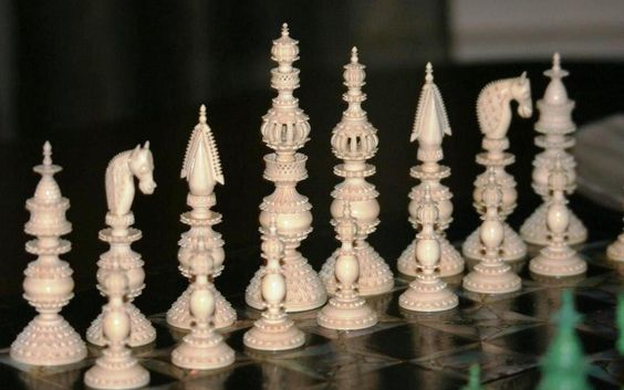 Samuel Pepys Large Ivory Chess Set