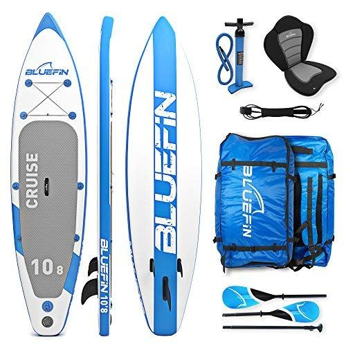 Bluefin Sup Stand Up Inflatable Paddle Board With Kayak Conversion Kit Ultimate Isup Kayak Bundle Blue 10 8 Inflatable Paddle Board Bluefin Paddle