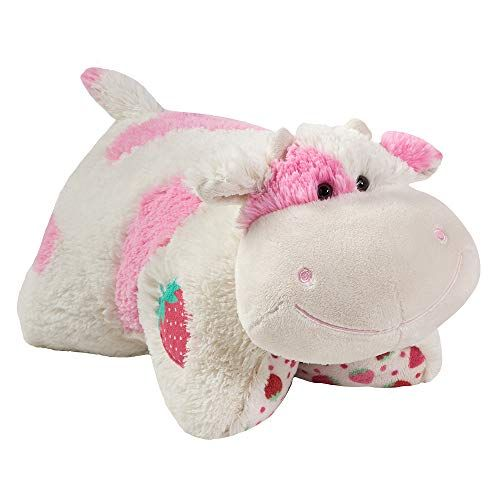 Pillow Pets Sweet Scented Pets Strawberry Milkshake Cow Strawberry Milkshake Scented Stuffed Animal Plus Animal Pillows Ladybug Pillow Pet Scented Pillows