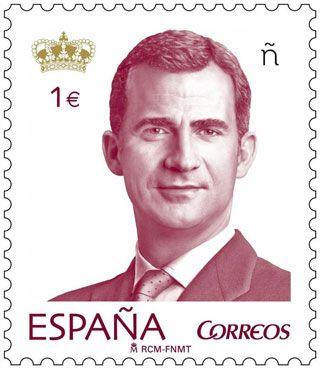 King Felipe IV of Spain stamp estampilla