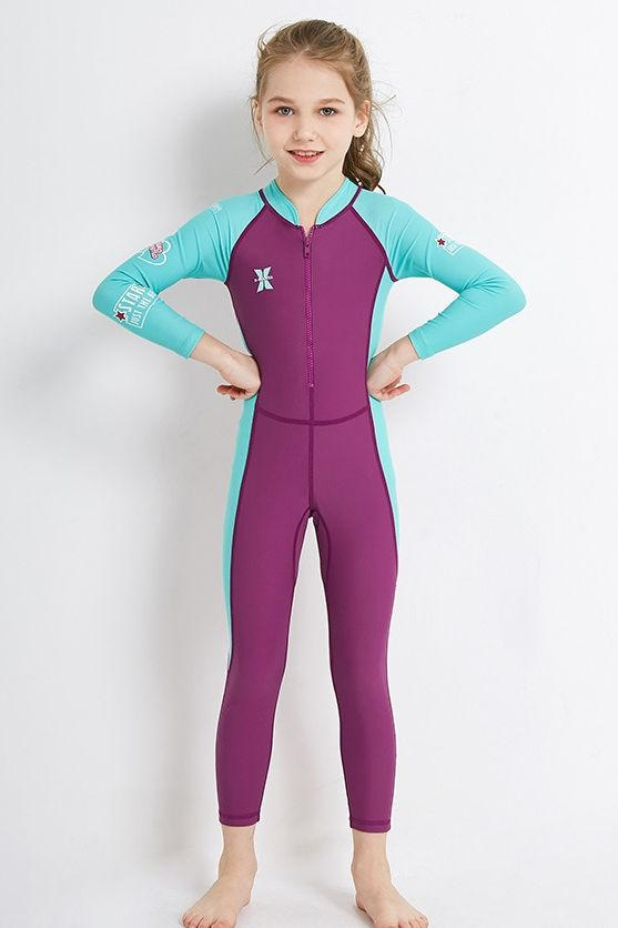 Full Swimsuit for Boys Kids DIVE /& SAIL Girls Long Sleeve Rash Guard UPF 50
