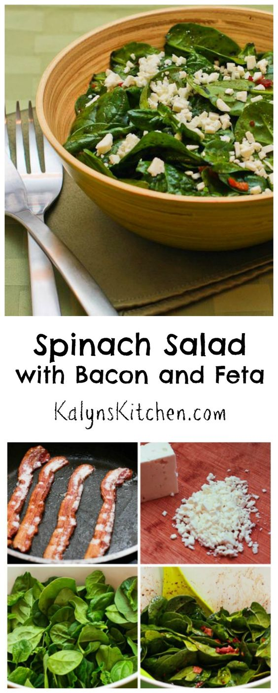 huge amount of bacon to make this Spinach Salad with Bacon and Feta ...