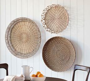 Handwoven Willow Wheel Wall Art 48 Baskets On Wall Basket Wall Art Basket Wall Decor