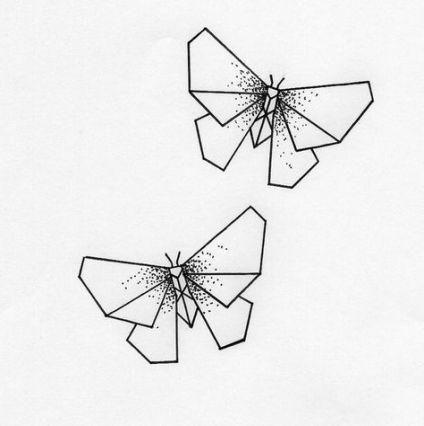 Butterfly Drawing Borboletas Desenho Origami Tattoo Tatuagem De Origami