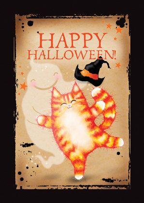 Carte de voeux d'Halloween. Danse Macabre. par MADOLDCATLADY