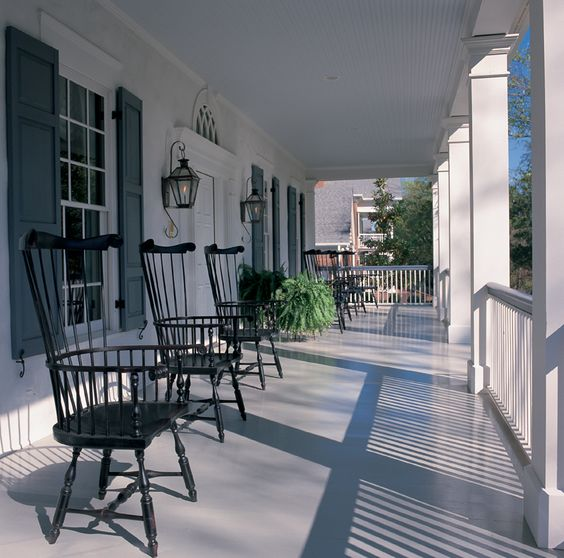 Colonial Porches and Home on Pinterest