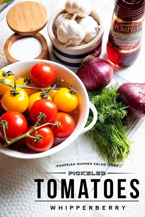 Pickled Tomatoes withcPompeiancRedcWinecVinegar-#whipperberry