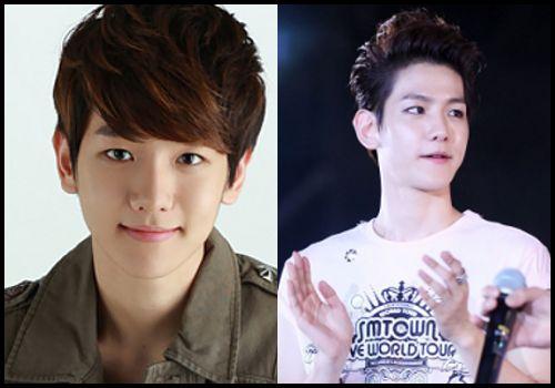 Baekhyun's down and up hairstyles