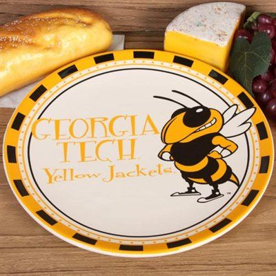Georgia Tech Yellow Jackets Game Day Round Ceramic Plate