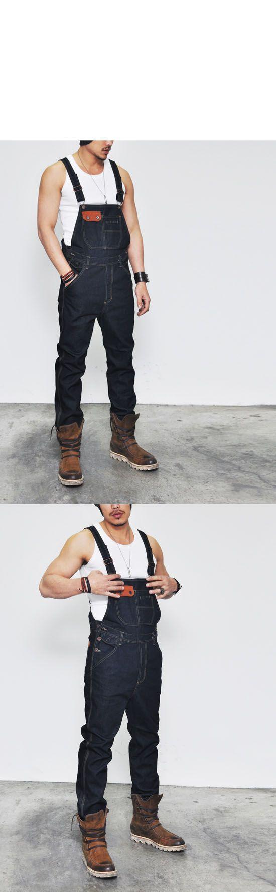 Bottoms :: Indigo Rigid Suspender Denim Overall-Jeans 119 ...