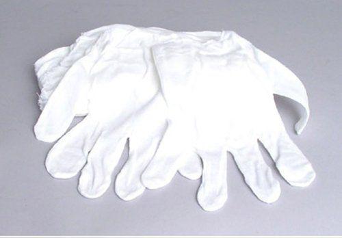 White Cotton Gloves Pack-8 Gloves, film, coins, CD/DVD, H...…