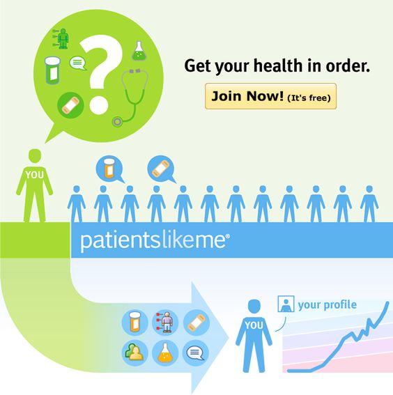 Get your health in order. Join PatientsLikeMe.
