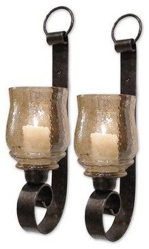 Uttermost Joselyn, Small Wall Sconces, S/2 contemporary candles and candle holders