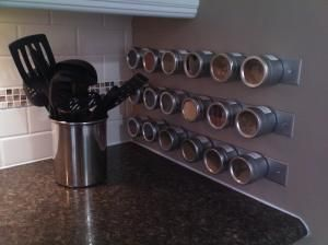 Would like to re-do my spice rack to be magnetic like this.