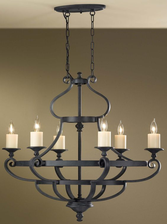 MF-F2517-6AF Murray Feiss King's Table 6-Light Chandelier $649.00