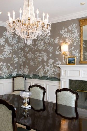 hand painted gracie wallpaper dining room chinoiserie