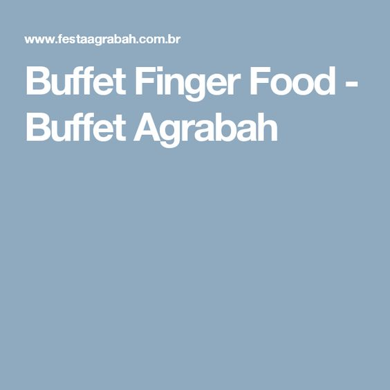 Buffet Finger Food - Buffet Agrabah                              …