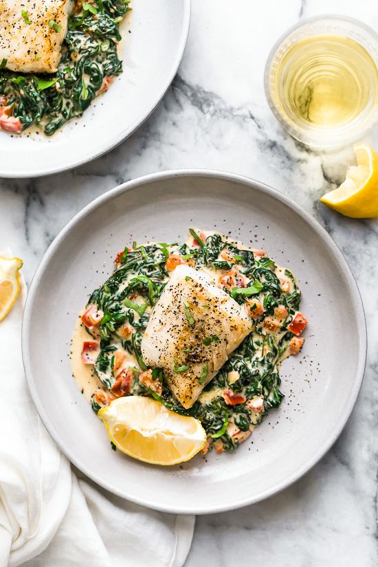 Fish Florentine The Best Fish Recipe Recipe Fish Florentine Recipe Fish And Spinach Recipe Best Fish Recipes