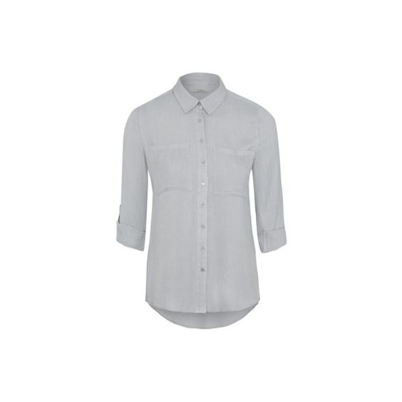 George Herringbone Shirt ($15) ❤ liked on Polyvore featuring tops, light grey, button up shirts, herringbone shirt, george shirts, metallic top and button down top