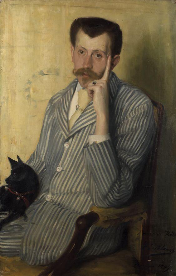 Portrait of Georges de Porto-Riche, 1889 by Jacques-Émile Blanche (1861-1942) ...Georges de Porto-Riche (1849-1930) was a French dramatist and novelist.
