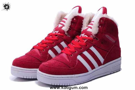 Adidas X Jeremy Scott Big Tongue Anti Fur Winter Shoes Red Latest Now
