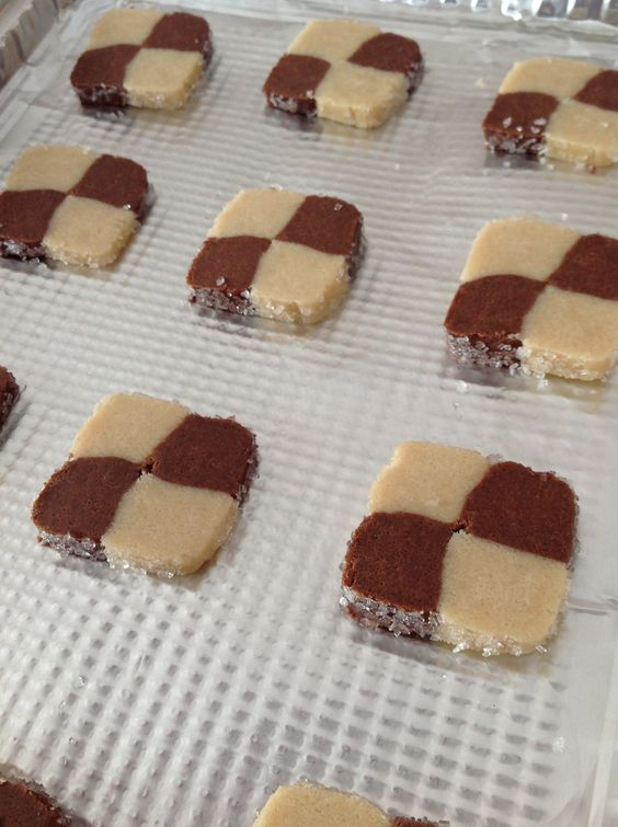 Checkerboard Christmas cookies