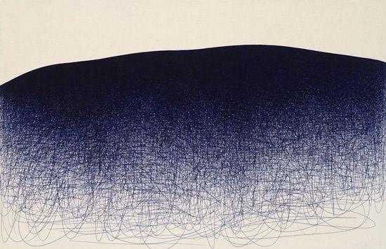 Il Lee. Ballpoint pen on canvas.