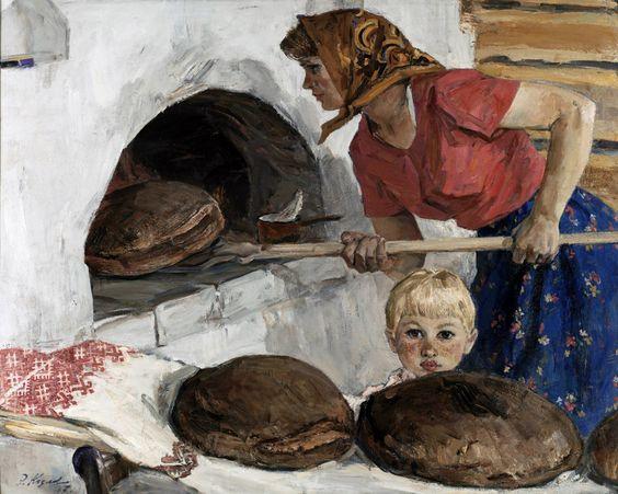 Козлов Энгельс Васильевич.  «Выпечка хлеба» 1967