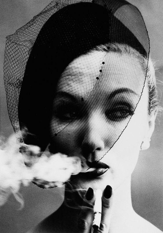 William Klein, Smoke and Veil, Vogue Paris 1958