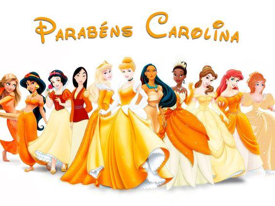 Painel em lona com impressão digital para festas de aniversário com tema princesas