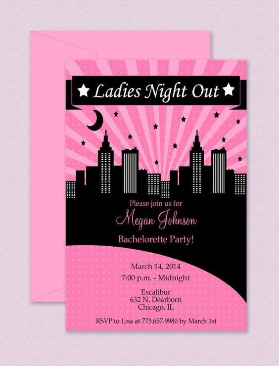 Ladies Night Out Invitation Editable Template Microsoft Word Format Lady The o'jays and Night