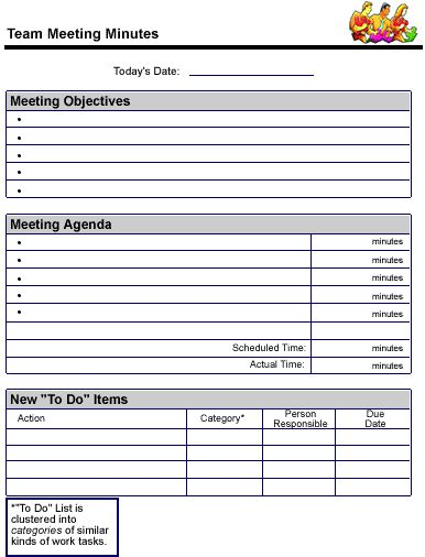 Meeting Notes Template - Google Search | 6Th Project Based