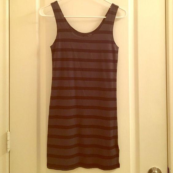 H&M Mini Dress in stripes NWT H&M Mini Dress in stripes NWT grey and black striped Size 4 H&M Dresses Mini
