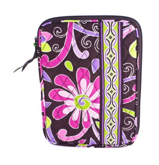 Amazon.com : Vera Bradley E-Reader Sleeve in Purple Punch : E Book Reader Sleeves : Electronics