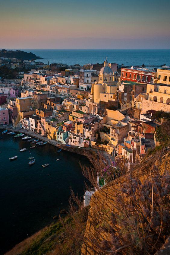 Marina Corricella, Procida Island, Campania, Italy, province of Naples