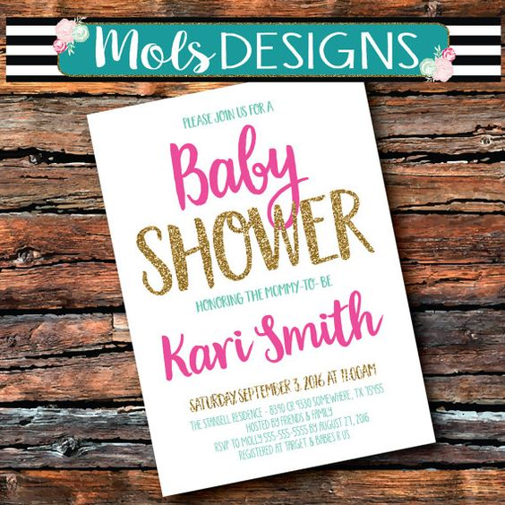 any color baby shower girl boy couples baby q sprinkle chalkboard, Baby shower invitations
