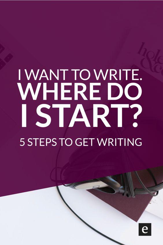I want to write a story where do i start