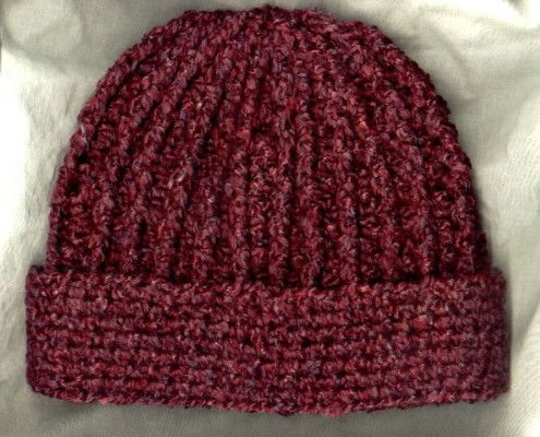 Crocheted Rib Hat, love the ribbed top and straight cuff ...