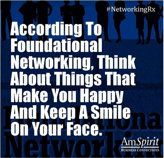 #NetworkingRx: What makes you happy?