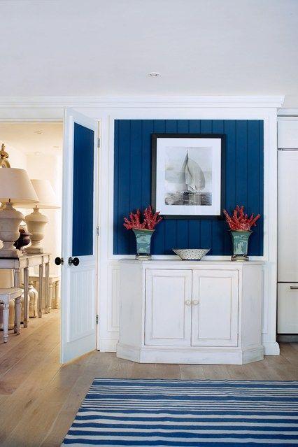 Blue Foyer And Hallway : Cobalt blue entryway and hallways