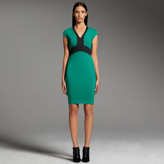 Narciso Rodriguez for DesigNation colorblock dress #Kohls would be great to wear to my husband's holiday work party! #KohlsDreamLooks