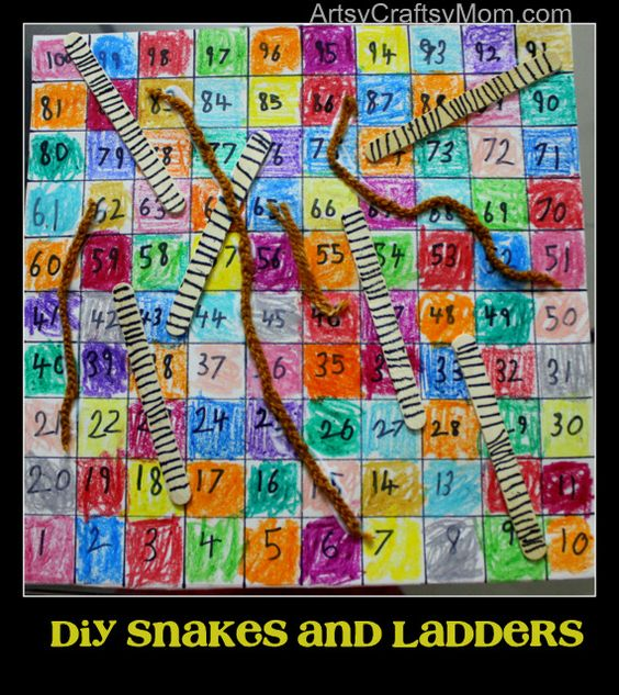 Artsy Craftsy Mom: DIY Snakes & ladders Board game [ with tutorial]