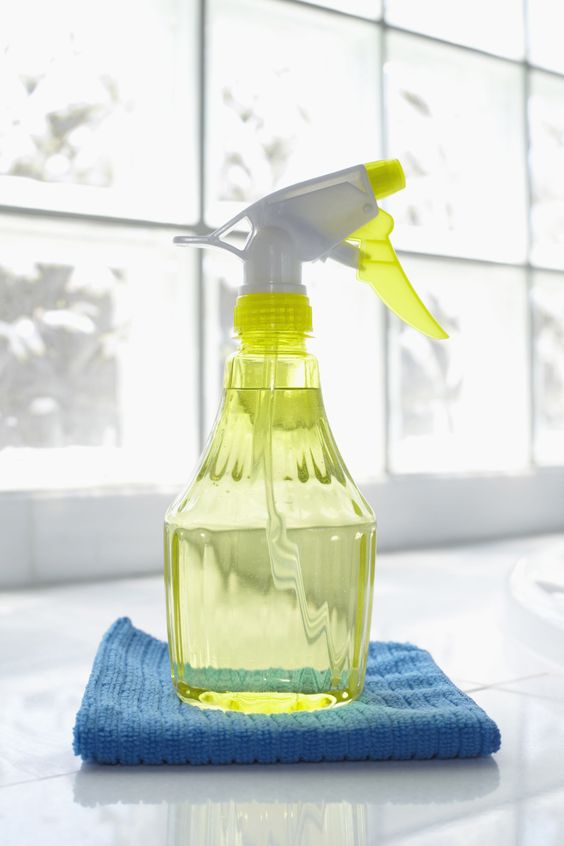 Here's the cleaner recipe that will make nearly every surface gleam (especially kitchen counters, appliances, and inside the refrigerator). Combine 4 tablespoons baking soda and 1 quart warm water, and use it with a sponge to wipe messes away.   - CountryLiving.com: