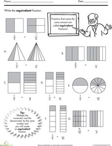 math worksheet : equivalent fractions  equivalent fractions fractions and  : Equal Fraction Worksheets