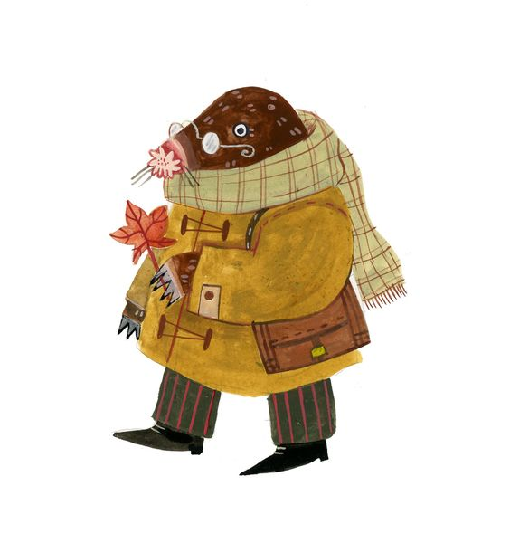 Madison Safer Illustration — A little autumn mole