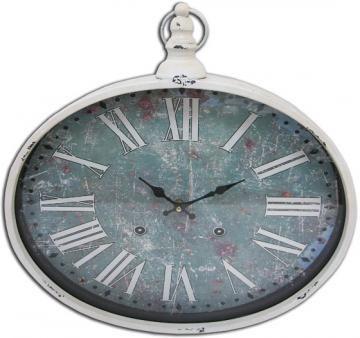 Green Stopwatch Iron Wall Clock