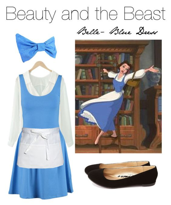"""Create Your Costume"" by iidoubletakeii ❤ liked on Polyvore featuring New Look, Chef Works, Disney, Charlotte Russe, Halloween, disney, belle, Costume and BeautyandtheBeast"