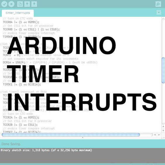 Arduino timer interrupts pictures of wells and